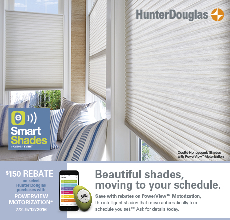 Hunter Douglas Specials Window Treatments Rebate