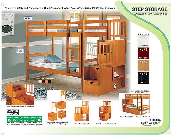 Palace imports step storage honey pine for Import direct inc